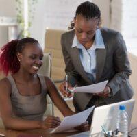 Woman coaching other woman