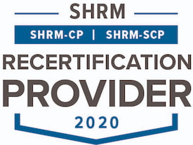 SHRM Recertification Provider CP SCP Seal 2020