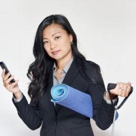 Woman balancing work and home